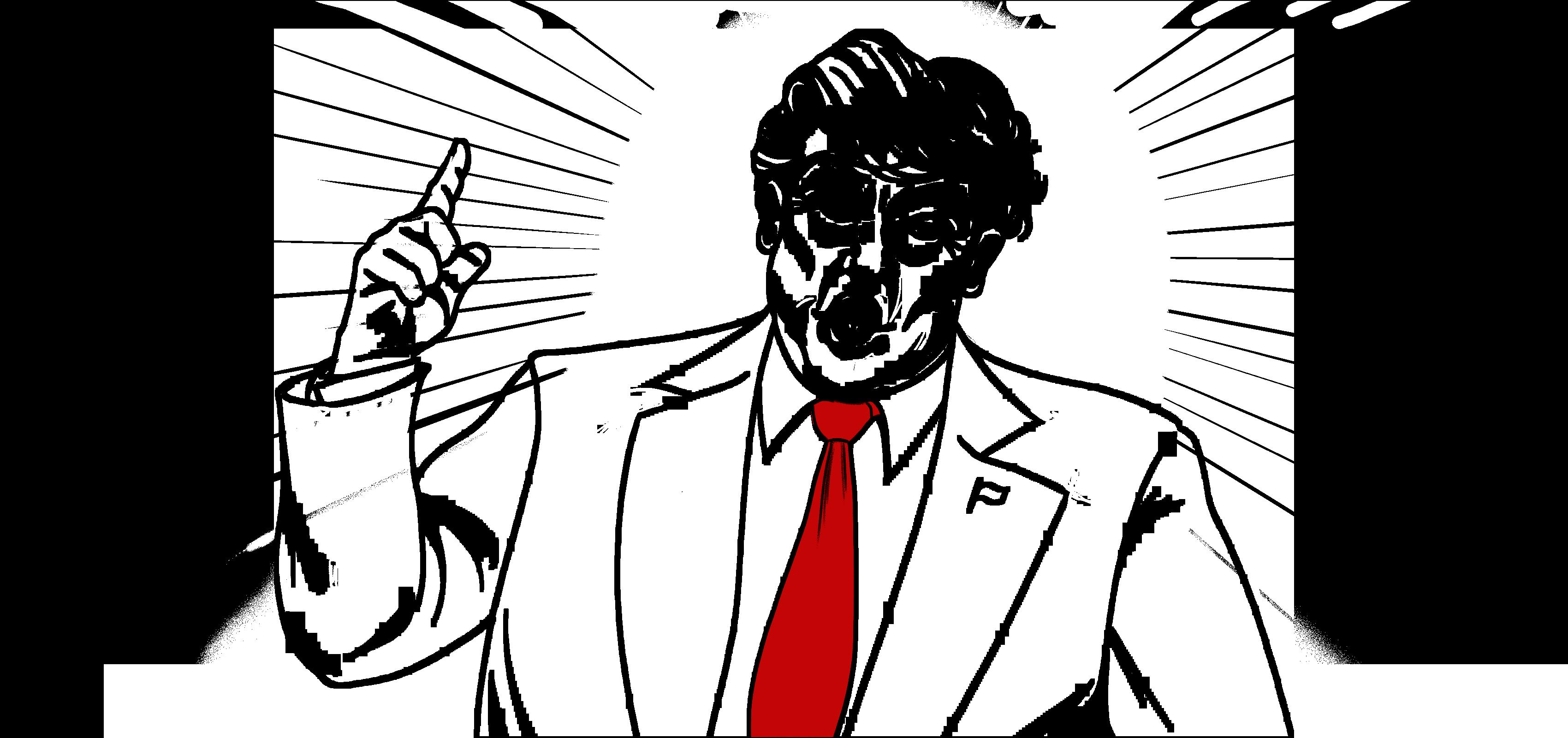 Illustration of Donald Trump